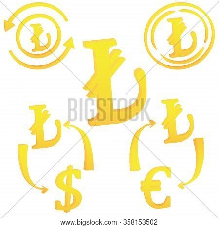 Turkish Lira Currency Symbol Icon Of Turkey Vector Illustration On A White Background