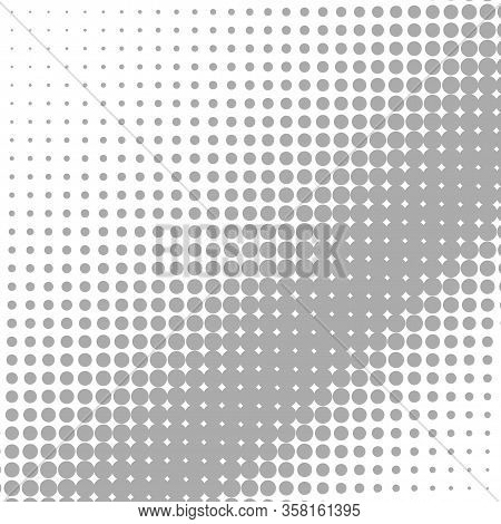 Abstract Halftone. Black Dots On White Background. Halftone Background. Vector Halftone Dots. Halfto