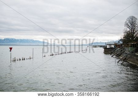 Lindau And Bodensee Panorama View, Germany Close Up