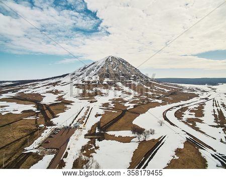 Aerial Photo Of A Pearl Bashkortostan - Toratau, Tra-tau Winter Season.