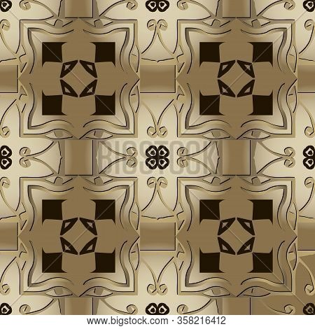 Egyptian Eyes Seamless Pattern. Papyrus Background. Vector Graphic Illustration. Ancient Hieroglyphs