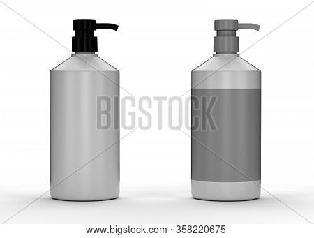 Blank Gray Package (isolated With Clipping Path)