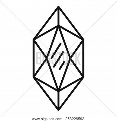 Wealthy Jewel Icon. Outline Wealthy Jewel Vector Icon For Web Design Isolated On White Background