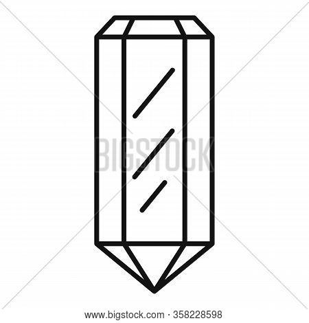 Gem Icon. Outline Gem Vector Icon For Web Design Isolated On White Background