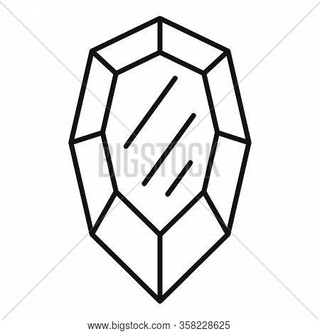 Ruby Icon. Outline Ruby Vector Icon For Web Design Isolated On White Background