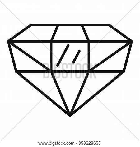 Precious Jewel Icon. Outline Precious Jewel Vector Icon For Web Design Isolated On White Background