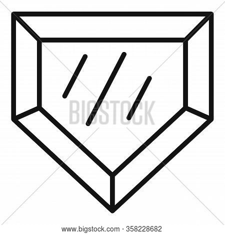 Game Jewel Icon. Outline Game Jewel Vector Icon For Web Design Isolated On White Background