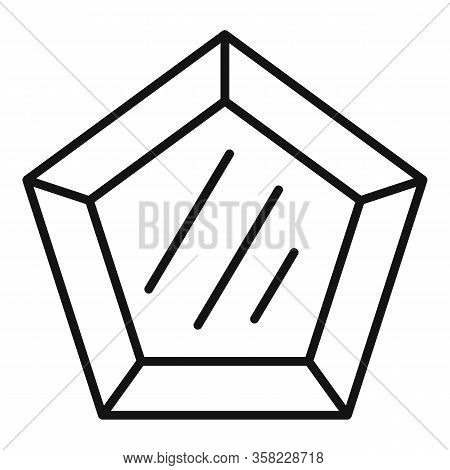 Marquise Gemstone Icon. Outline Marquise Gemstone Vector Icon For Web Design Isolated On White Backg