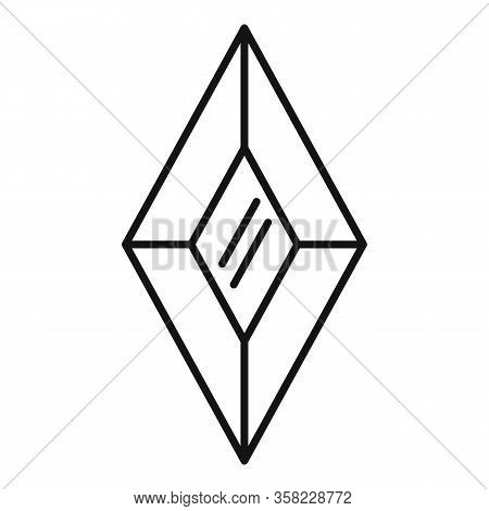 Shiny Jewel Icon. Outline Shiny Jewel Vector Icon For Web Design Isolated On White Background