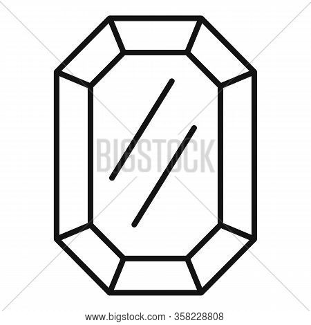 Solid Jewel Icon. Outline Solid Jewel Vector Icon For Web Design Isolated On White Background