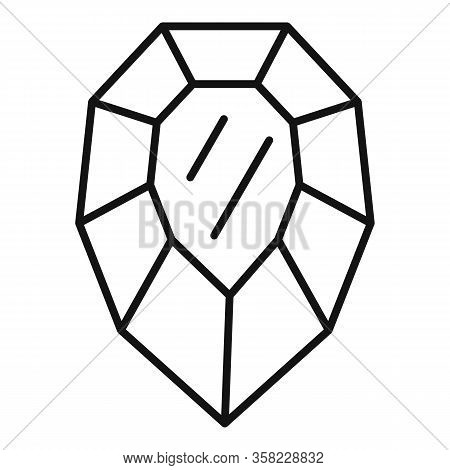 Purity Jewel Icon. Outline Purity Jewel Vector Icon For Web Design Isolated On White Background