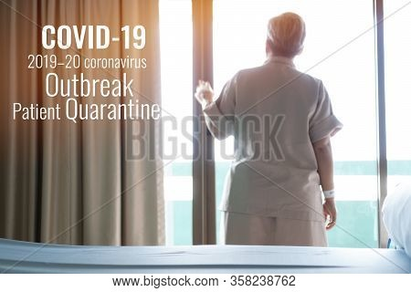 Hospital Quarantine Or Isolation Of Patient Near Window For Treatment Of Coronavirus Covid-19 Pandem