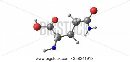 Glutamine Molecular Structure Isolated On White