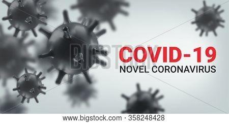 Coronavirus Concept Background. 2019-ncov, Virus Covid 19-ncp. Vector Illustration