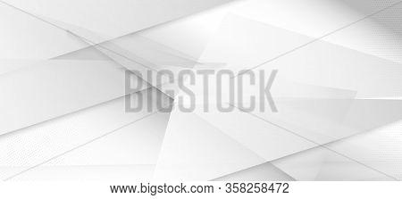 Halftone Minimal Gray Vector Background. Edgy Art. Halftone Wallpaper. Modern Faded Banner. Grain Pa