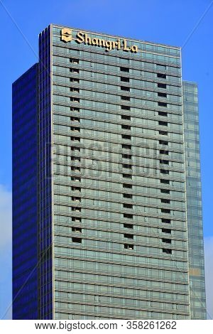 Taguig, Ph - Oct. 1: Shangri-la The Fort Facade On October 1, 2016 In Taguig, Philippines. Shangri-l