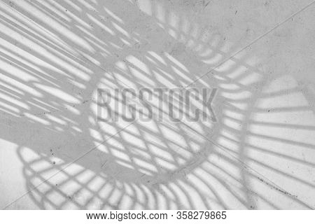 Abstract Backgrounds Shadow Of Steel Rod Outdoor-chairs Lay Beautifully & Looks Dimension Over Light