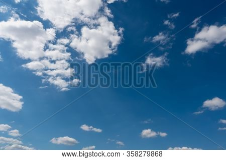 Background Of Blue Sky With Clouds In The Day