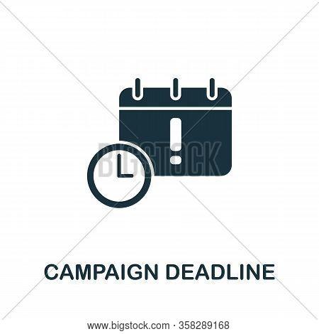 Campaign Deadline Icon From Seo Collection. Simple Line Campaign Deadline Icon For Templates, Web De
