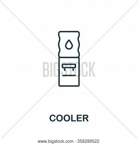 Cooler Icon From Office Tools Collection. Simple Line Cooler Icon For Templates, Web Design And Info