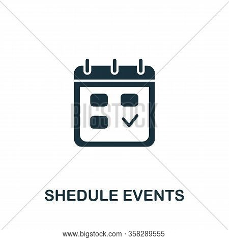 Schedule Events Icon From Seo Collection. Simple Line Schedule Events Icon For Templates, Web Design