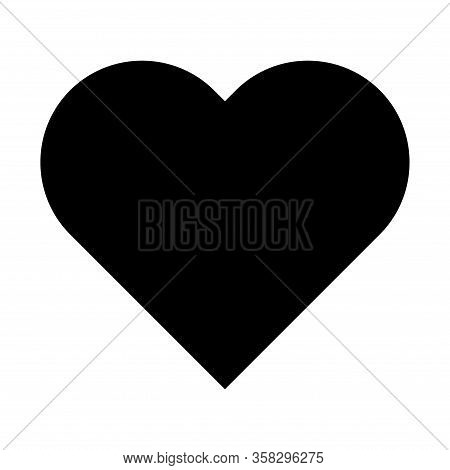 Heart Icon, Love Vector Symbol Isolated On White Bacground. Valentine Graphic Sign