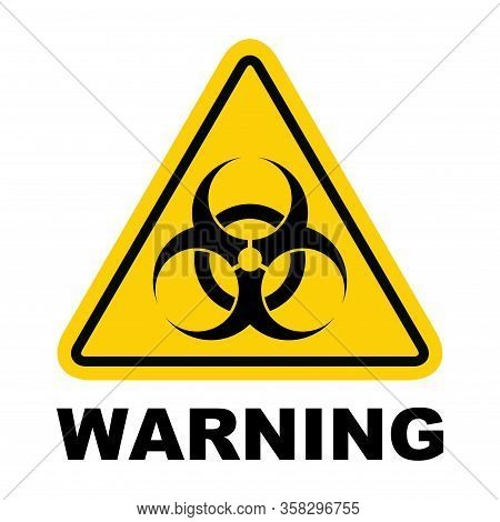 Biohazard Warning Modern Website Icon Isolated On White Background. Design For Mobile App And Ui