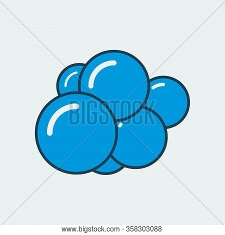Vector Simple Icon Of A Several Body Cells In The Process Of Division. It Represents A Concept Of Ce