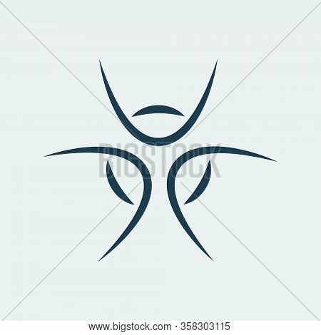 Vector Icon Of A Beautiful Symmetrical Geometric Figure. Can Be Used As A Logo For Medical Or Engine