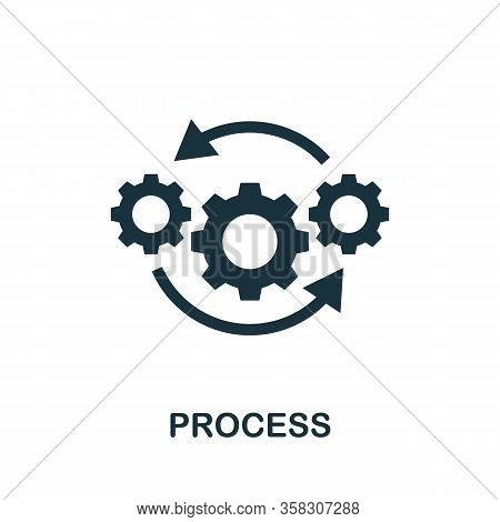 Process Icon. Simple Element From Audit Collection. Filled Process Icon For Templates, Infographics