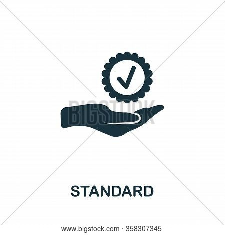 Standard Icon. Simple Element From Audit Collection. Filled Standard Icon For Templates, Infographic