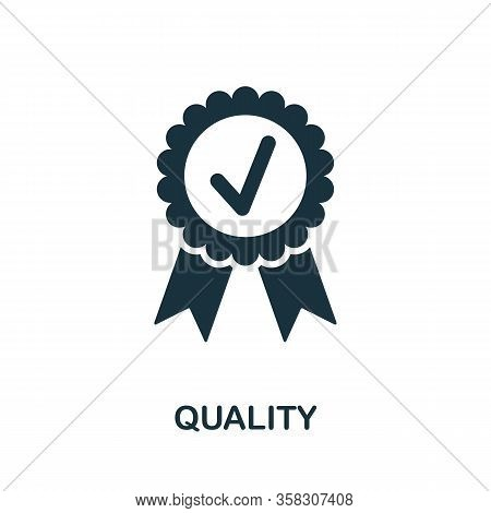 Quality Icon. Simple Element From Audit Collection. Filled Quality Icon For Templates, Infographics