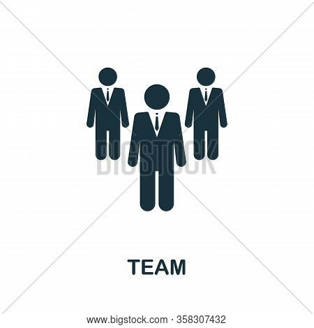 Team Icon. Simple Element From Audit Collection. Filled Team Icon For Templates, Infographics And Mo