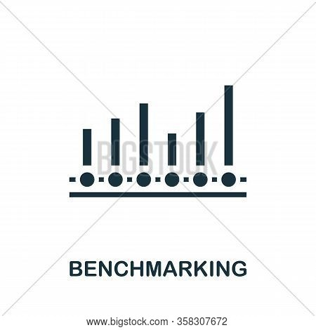 Benchmarking Icon. Simple Element From Business Intelligence Collection. Filled Benchmarking Icon Fo