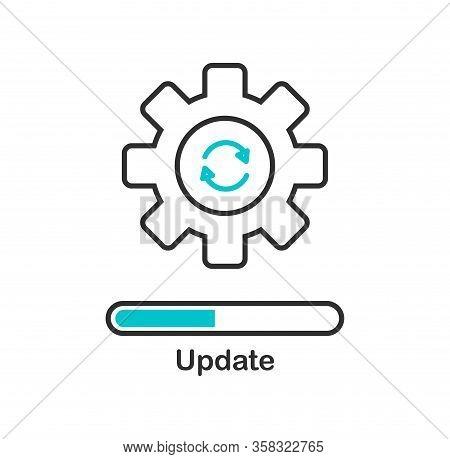 Update Icon, Application Progress Upgrade. Vector Illustration