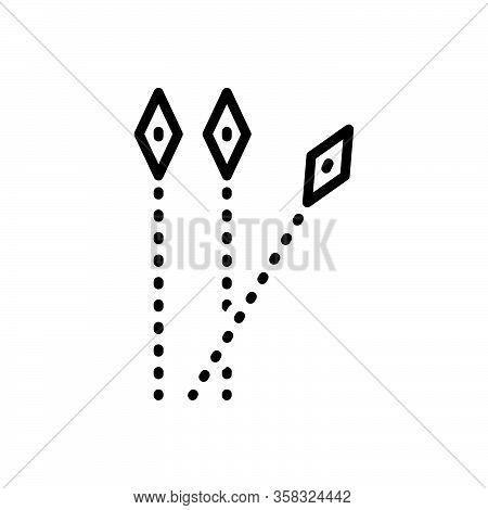 Black Line Icon For Separate Wander Deviate Distinct Detached Aloof Segregate