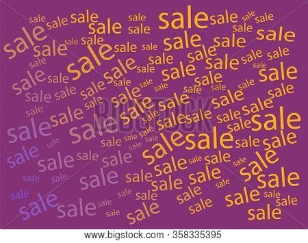 Modern Flyer With Colorfull Sale Abstract Background On Light Background. Vector Illustration Templa
