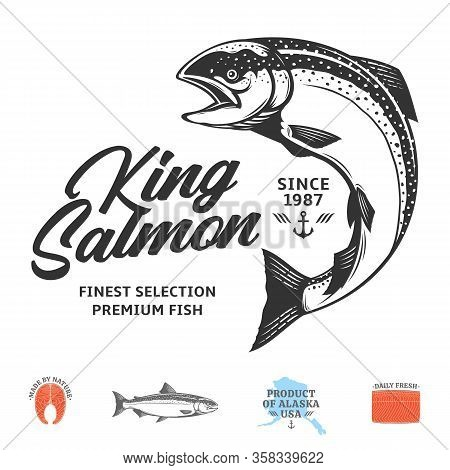 Vector King Salmon Label
