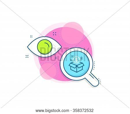 Paid Service Sign. Research Complex Icon. Post Package Line Icon. Analytics Or Analysis Banner. Post