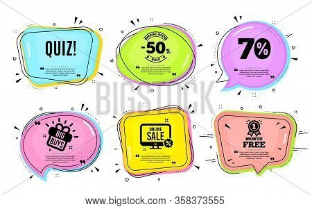 Quiz Symbol. Big Buys, Online Shopping. Answer Question Sign. Examination Test. Quotation Bubble. Ba