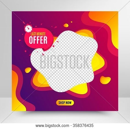 Last Minute Badge. Sale Banner Template. Hot Offer Chat Bubble Icon. Special Deal Label. Social Medi