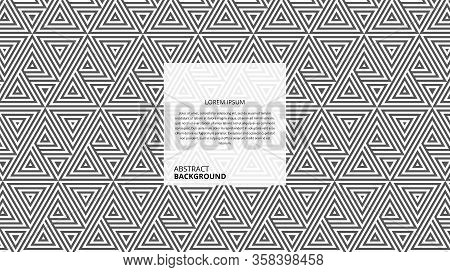Abstract Seamless Triangle Stripes Pattern. It Is Suitable For Various Types Of Design Purposes.vect