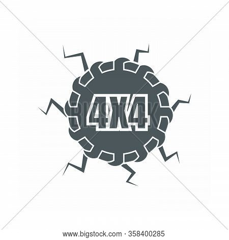 Off Road Vector Design Element On White Background.