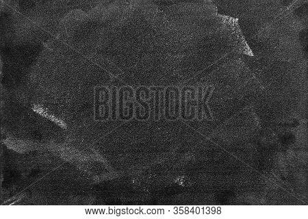 Blackboard Dark Or Chalkboard With Horizontal And Banner / Blank Blackboard Texture For Chalk Draw A