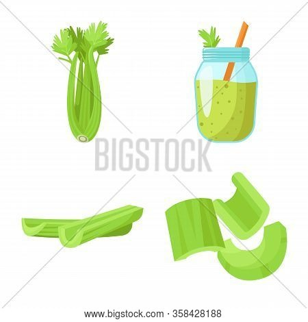 Vector Illustration Of Salad And Ingredient Symbol. Web Element Of Salad And Natural Stock Vector Il