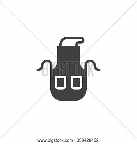 Kitchen Apron Vector Icon. Filled Flat Sign For Mobile Concept And Web Design. Chef Uniform Apron Gl