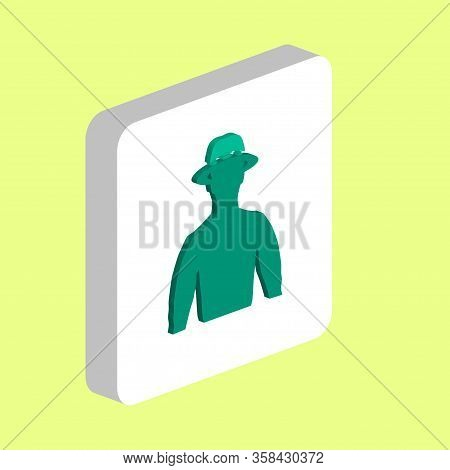 Cowboy In A Hat Simple Vector Icon. Illustration Symbol Design Template For Web Mobile Ui Element. P