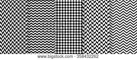 Herringbone Seamless Pattern. Vector. Twill Print With Herring Bone, Zig Za And Chevron. Tweed Geome