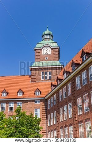 Tower Of The Old Gymnasium School In Flensburg, Germany