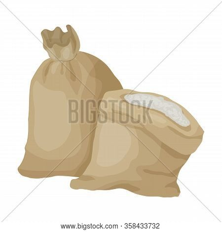 Bag Of Flour Vector Icon.cartoon Vector Icon Isolated On White Background Bag Of Flour.